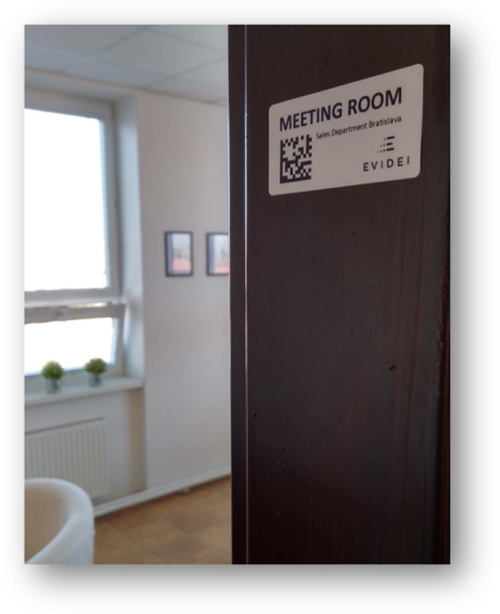 Evidei room label